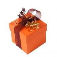 Pack de 12 boîtes C² Orange- Noël - 250g - format 82x82x82/28
