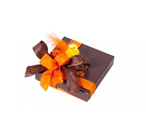 Pack de 12 boîtes Choco 250g - collection Pâques - format 130x130x30/25
